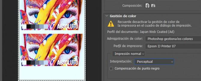 perfil de color para sublimación