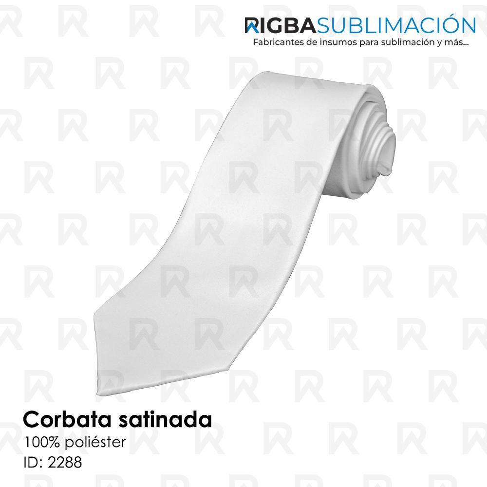Corbata satinada para sublimación