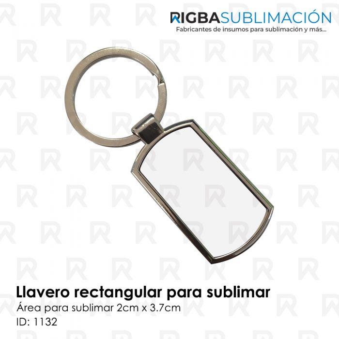 Llavero rectangular para sublimación