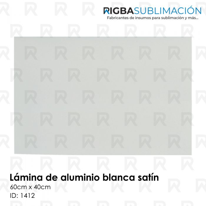 Lámina de aluminio blanca para sublimación