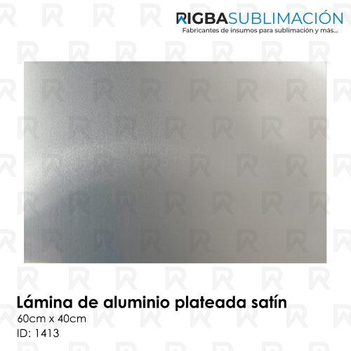 Lamina de aluminio plateada para sublimación