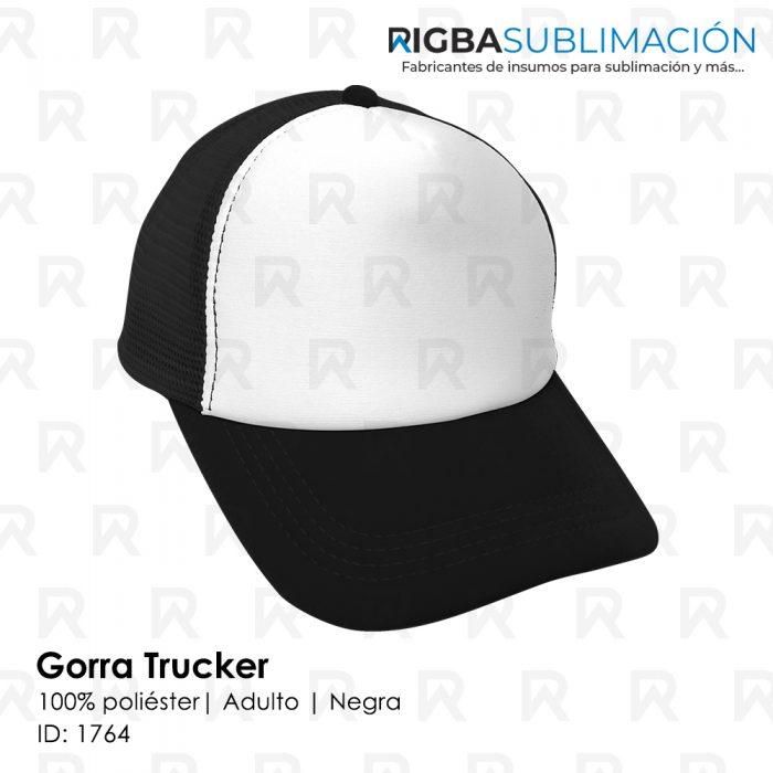 Gorra trucker para sublimación negra