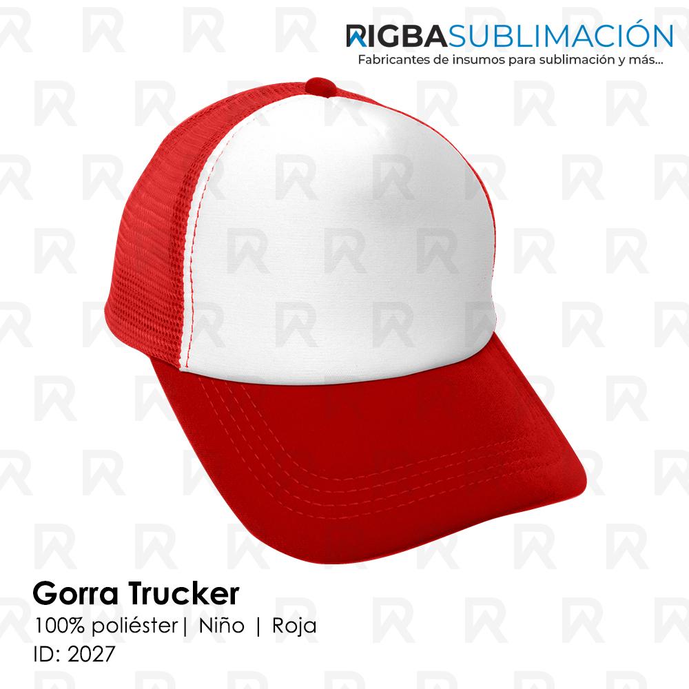 Gorra trucker niño para sublimación rojo