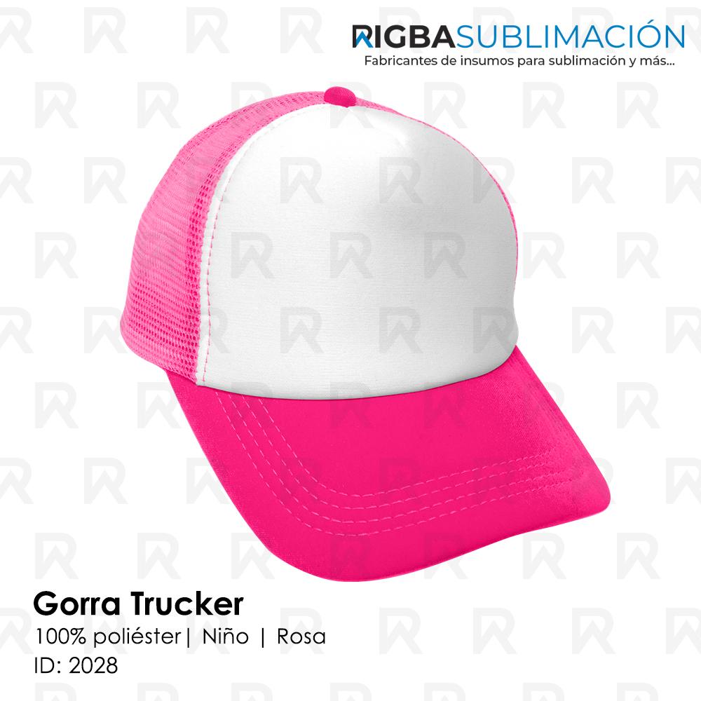 Gorra trucker niño para sublimación rosa
