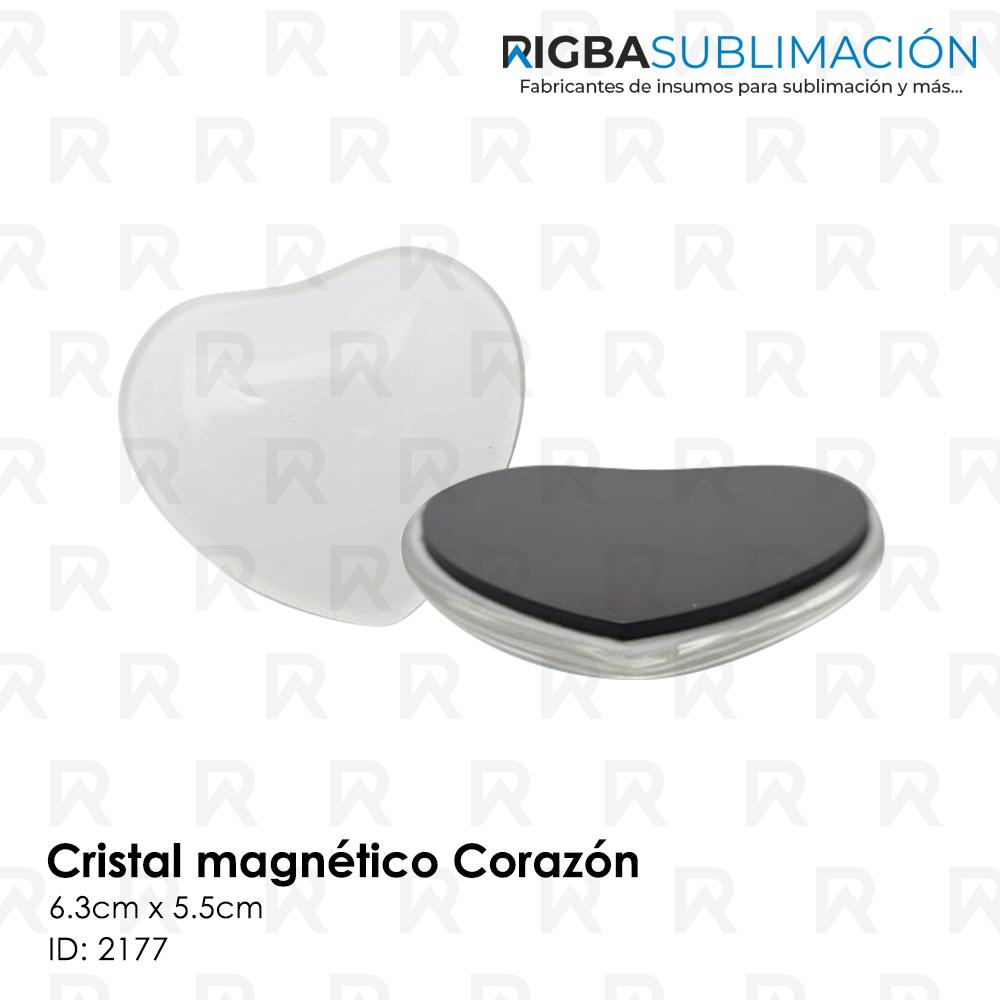 Cristal magnético para sublimación corazón