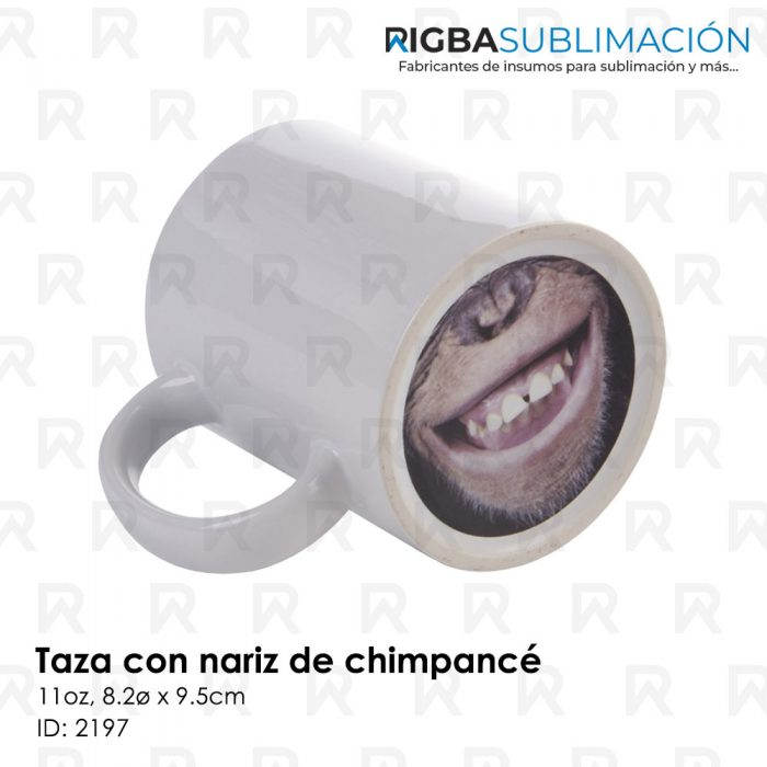 Taza nariz de chimpancé para sublimación
