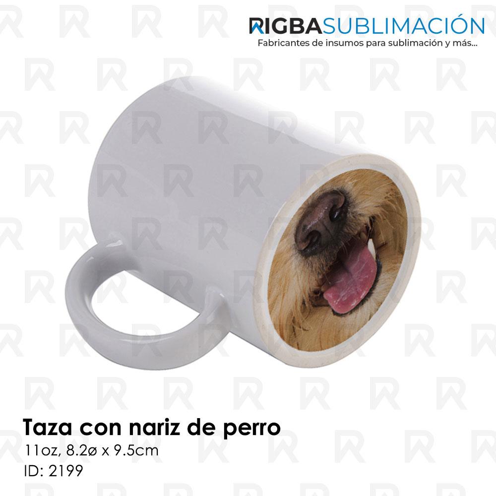 Taza nariz de perro para sublimación