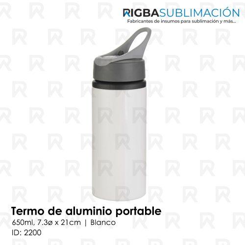Termo portable para sublimación blanco