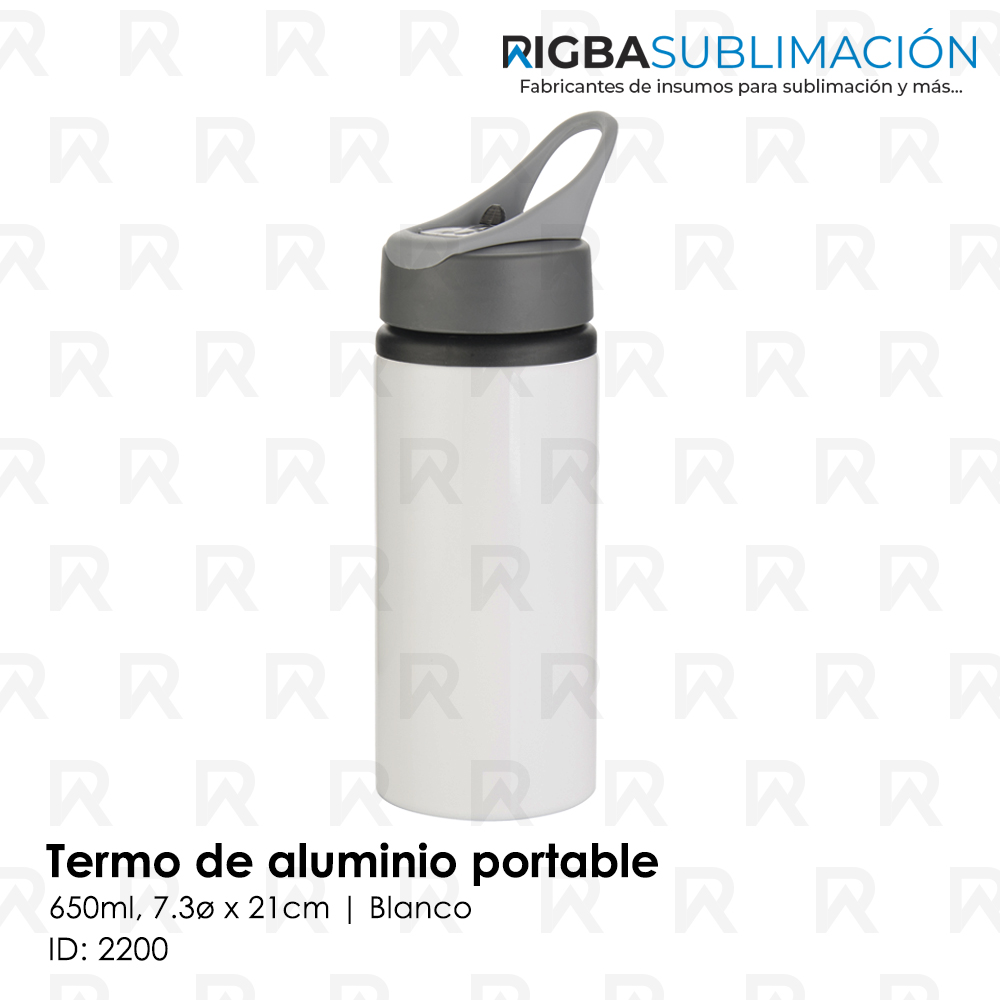 Termo portable para sublimación blanco