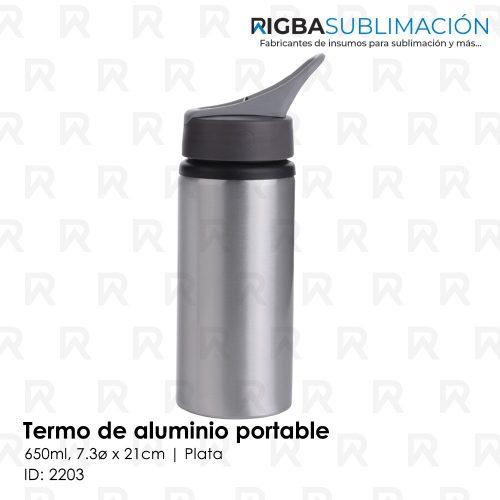 Termo portable para sublimación plata