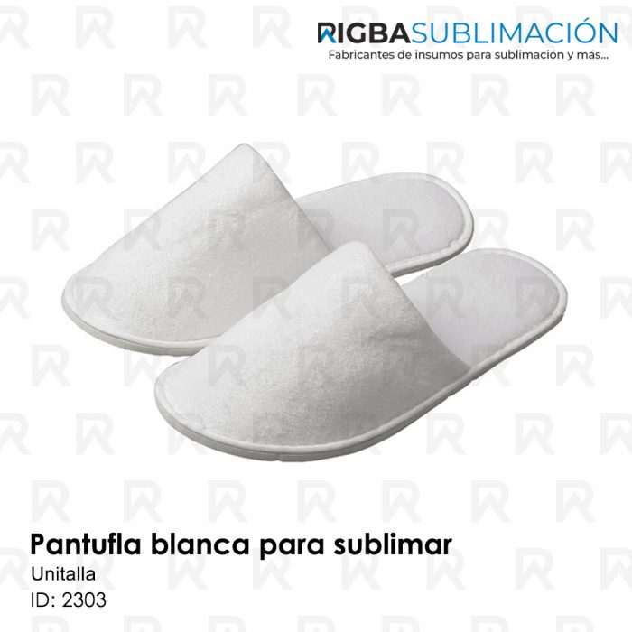 Pantufla blanca para sublimación