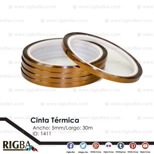 Cinta térmica adhesiva resistente al calor no mancha 0.5cm