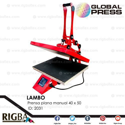 LAMBO 40 x 50 prensa plana manual