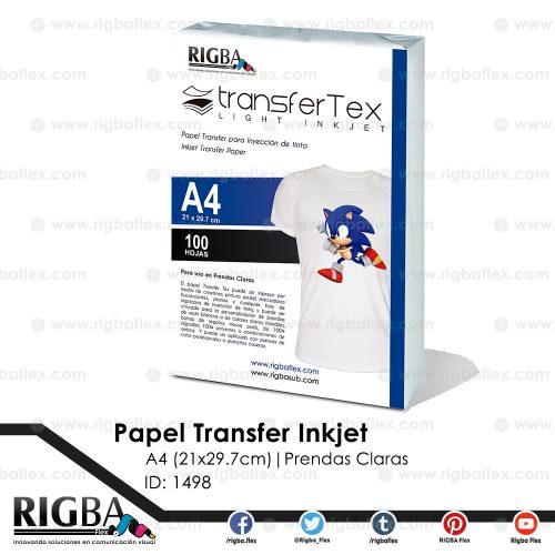 Papel Transfer Inkjet (prendas claras) A4