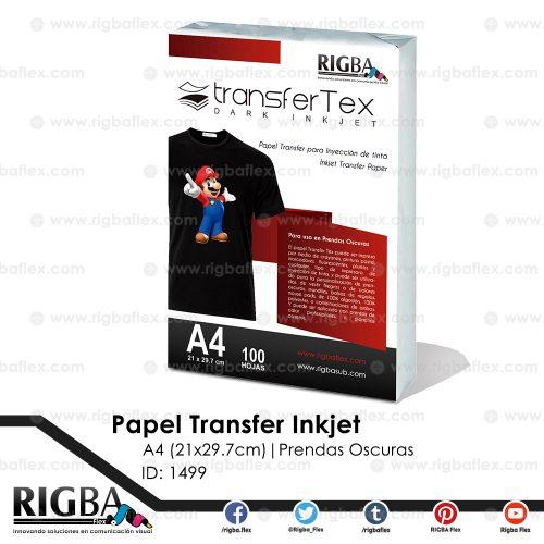 Papel Transfer Inkjet prendas oscuras A4