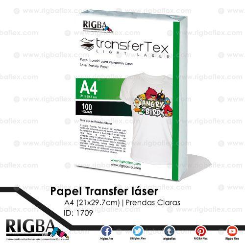 Papel Transfer para Láser (prendas claras) A4
