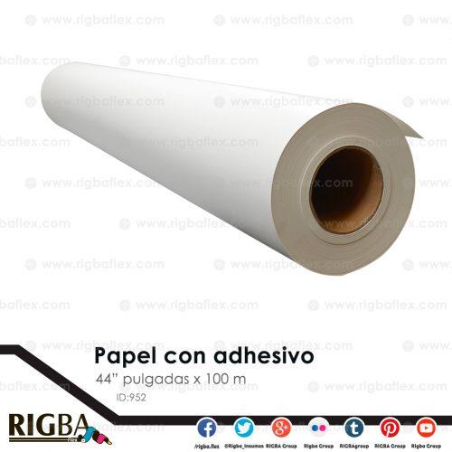 Papel para sublimacion con adhesivo 1.11 x 100m