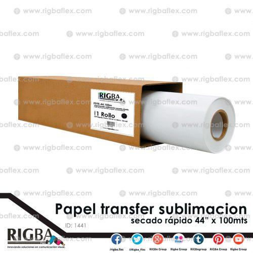 Papel para sublimacion secado rapido 1.11 x 100m