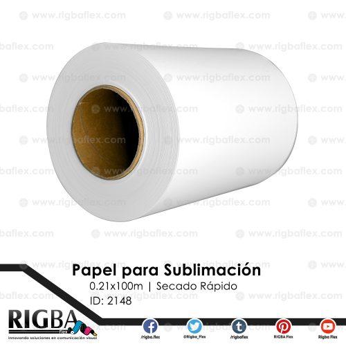 Papel para sublimación secado rápido 21cm x100m
