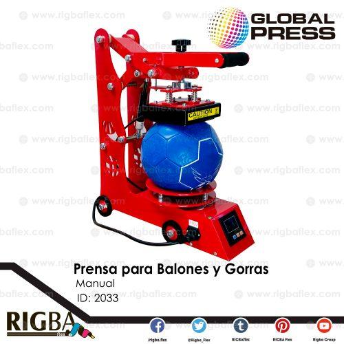 Prensa manual para Balones y Gorras
