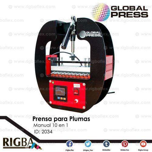 Prensa manual para Plumas 10 en 1