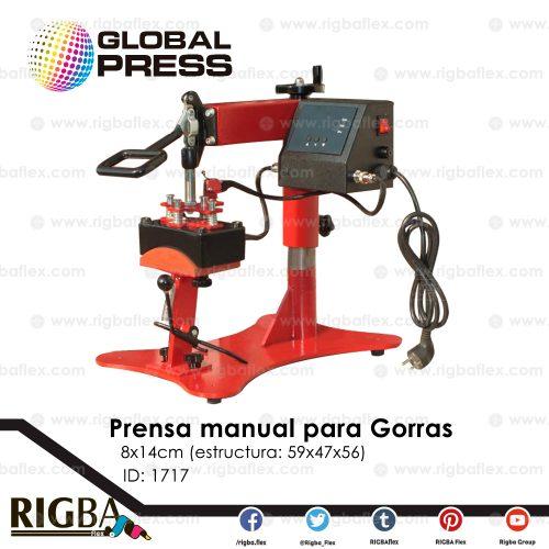 Prensa manual para gorras 8x14cm