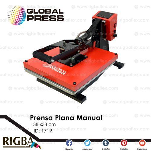 Prensa plana manual para sublimación 38cm x 38cm