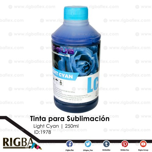 Tinta para sublimación light Cyan de 250ml