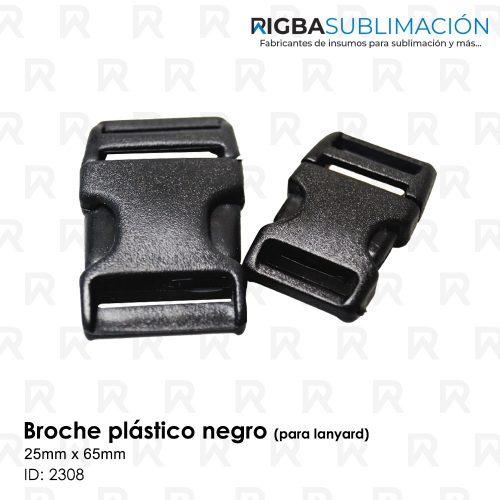 broche plástico negro