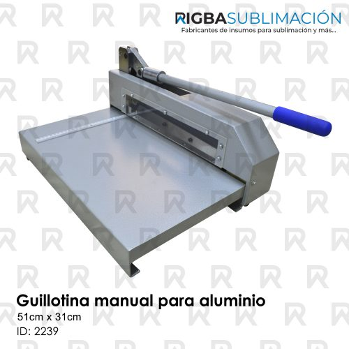 guillotina manual para aluminio