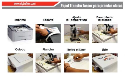 prenda clara para laser